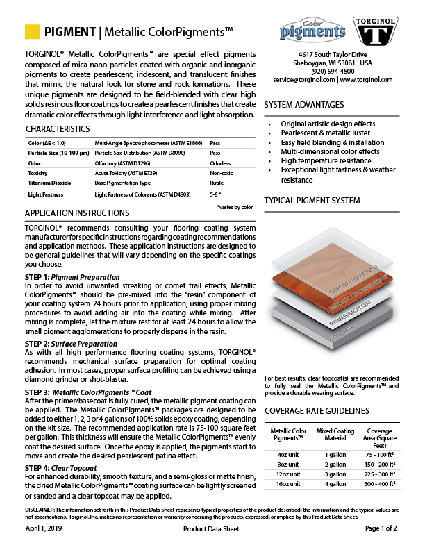 PIGMENT Product Data Sheet